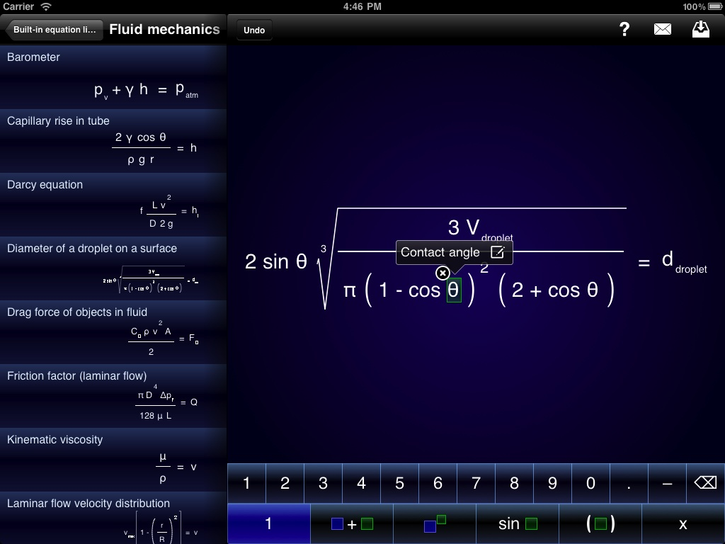 iPad Pi Cubed equation editing